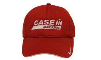 cbdf73206b4 Red Nike Dry Mesh Hat  White Case IH Logo -Fitted- 100103