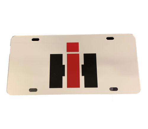 MIS-License Plate/Chrome Plate/Black Letters-IH Only-110035